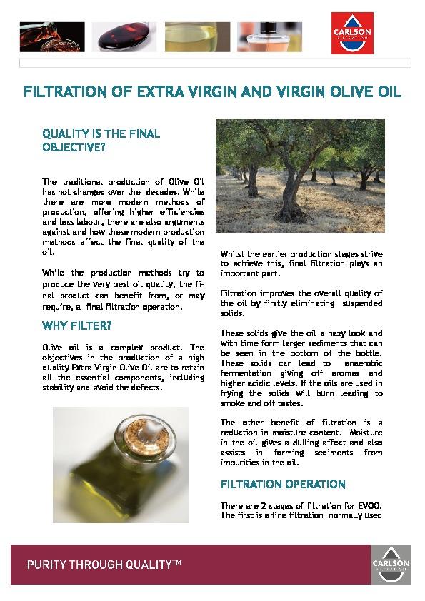 EVOO Filtration Brochure