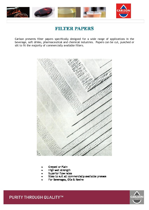 Filter Papers Brochure